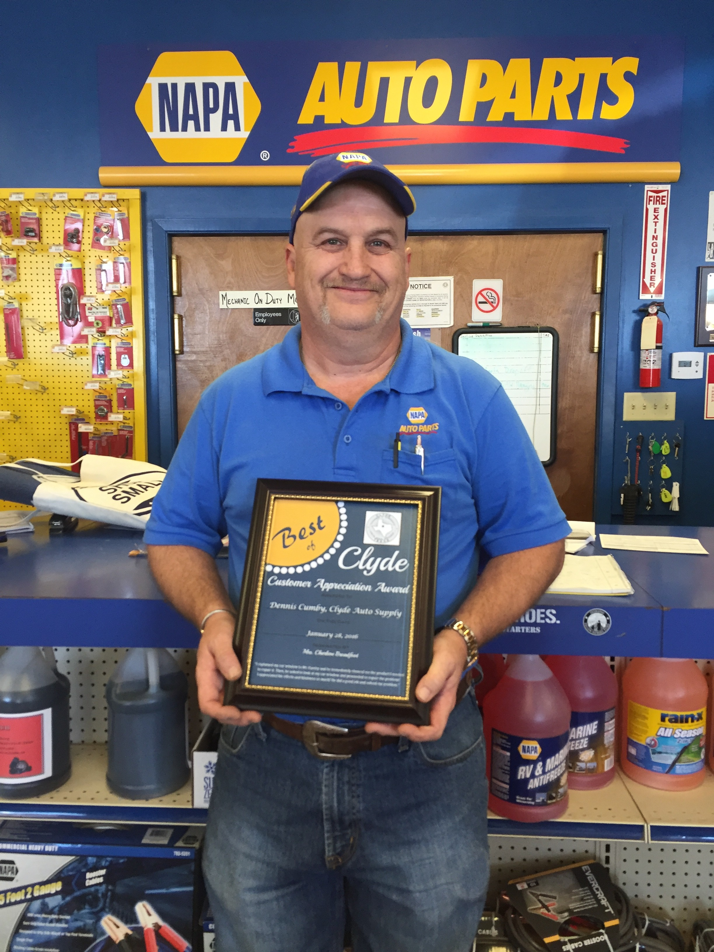 Dennis auto repair - Congratulations To Dennis Cumby With Clyde Auto Repair Napa Auto Supply Nominated By Charlene Broadfoot Dennis Has Been Chosen As The First Recipient Of